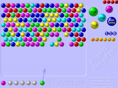 play online bubble shooter